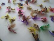 Trout Salmon Fly Fishing Flies Assortment 50pcs Lot Dry Wet Streamers Fly Lot 50