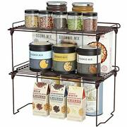 Stackable Cabinet Shelf Kitchen Cabinet Organizers And Storage 2 Pack Pantry ...