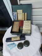 Vintage 1944 Wwii First Aid Medic Medical Kit In Metal Box W/ Contents