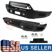 Textured Heavy Duty Steel Front Rear Bumper W Led Lights For Ford F150 2009-2014