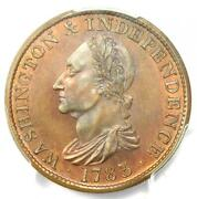 1783 Proof Washington Draped Colonial Copper Coin - Pcgs Pr65 Rb - 1750 Value