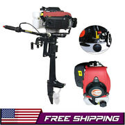 4hp Heavy Duty 4 Stroke Outboard Motor Boat Engine W/air Cooling System Us