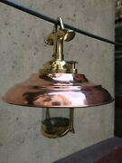 Nautical Vintage Style Hanging Cargo Brass And Copper Shade New Light Lot 10