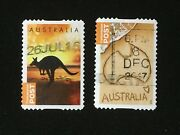 2014 Australia Concession Post Stamps 60c Kangaroo And Sand Map Adhesive Pair Used