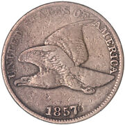 1857 Flying Eagle Cent Fine Penny Fn See Pics J254