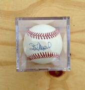 Stan Musial Autograph/ Signed Ball In Case Mlb Baseball Hall Of Fame Collectible