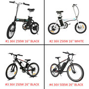 16and039and039/26and039and039 250w/500w Electric Mountain Bike E-bike 36v 4 Types Black And White