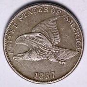 1857 Flying Eagle Cent Penny Choice Xf Free Shipping E501 Rhs