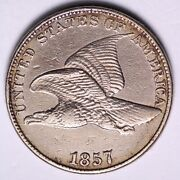 1857 Flying Eagle Cent Penny Choice Au Free Shipping E503 Qccm