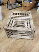 Antique Wooden Flat Top Lobster Trap - From Maine