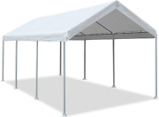 Carport Car Canopy Garage Boat Shelter Portable Tent With 8 Legs 10x20 Ft Ivory