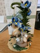 Pretty Parachute Ornament And Stand Charming Tails Figurine By Fitz And Floyd New