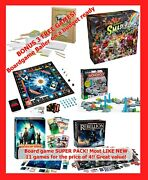 8 Board Games W/ 3 Free And Shipping Star Wars, Monopoly, Smash Up, Pandemic