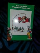 Warner Bros. Studio Store Scooby-doo And Scrappy Ornament And Base Stand. New