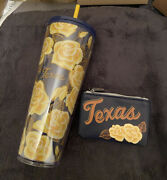 Starbucks Yellow Rose Of Texas Tumbler And Coin Purse Collectible Package 2020 New
