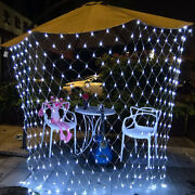 Led String Fairy Net Lights Curtain Mesh Christmas Party Outdoor Indoor Decor Us