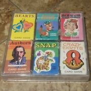 6-vintage Miniature Card Game Whitman Old Maid-snap-authors-hearts-crazy-rummy.