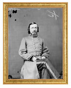 George E. Pickett Photograph In A Aged Gold Frame