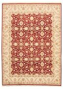 Vintage Hand-knotted Carpet 9and0392 X 12and0397 Traditional Dark Red Wool Area Rug