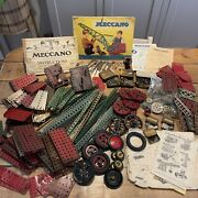 Vintage Meccano Outfit 1and3 Instructions Locks Wheels Tools Parts 1920andrsquos-40andrsquos