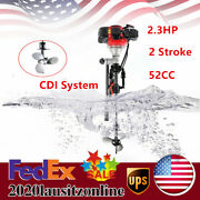 2.3hp 2 Stroke Outboard Motor Manual Start 750mm 52cc Boat Engine Cdi System