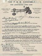 Pbb Antique Cars Shock Absorbers Graphic Advertising Sales Papers 1916