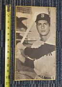 Carl Yastrzemski 1968 Topps Puzzle Proof Uncut 10 Card Panel One-of-a-kind