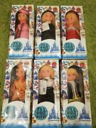 Disney Retro Itand039s A Small World Collection Doll Set Of 6 1980s Collectible F/s