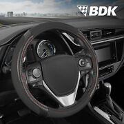 Griptech Sport Black Steering Wheel Cover 14.5 15 15.5 Inch Suv Accessories