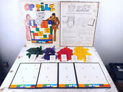 Vtg Op Tile Board Game By Schaper Cootie 1972 Visual Strategy Puzzle Game Rare