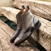 The Military Brogue Boot Model 3957 From Robert August W/ Free Shoe Trees