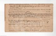 Daniel Judson Revolutionary War Patriot And Justice Of Peace Autograph Letter 1797