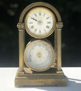 Jas Shoolbred And Co Antique Rare Clock Barometer Not Working And Needs Repairs