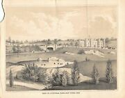 Central Park New York City Antique Graphic Engraving Print By G. Hayward 1862