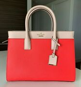 Kate Spade Cameron Street Candace Satchel, Red/white/beige, New