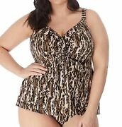 Elomi Fierce Es7201 Non-wired Moulded Tankini Top Black Blk 20 Cs