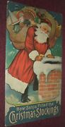 1916 How Santa Filled The Christmas Stockings, Stecher Original, Only Printing