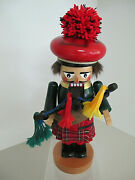 Steinback Signed Scottish Chubby Bagpiper S-973 Nutcrackermade In Germany