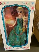 Disney Store Elsa Frozen Fever Limited Edition 17 Doll - New Le 5000
