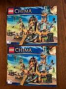 Lego 70010 Legends Of Chima The Lion Chi Temple Instruction Books 2 And 3