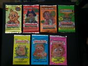 Gpk Garbage Pail Kids Ans 1, 2, 3, 4, 5, 6 And 7 Sealed Packs All 7 Complete Set