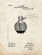 Hand Grenade Fire Extinguisher Patent Print Old Look