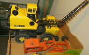 Vintage Yellow Tonka Turbo Diesel Truck And Early Orange Structo Tractor Parts