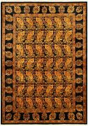 Vintage Hand-knotted Carpet 6and0392 X 8and0398 Traditional Light Orange Wool Area Rug