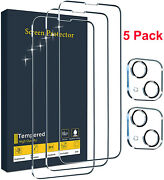 For Iphone 13 12 Pro Max/mini Tempered Glass Screen Protector Camera Full Cover