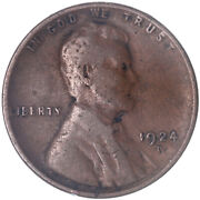 1924 D Lincoln Wheat Cent Very Fine Penny Vf See Pics J441