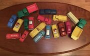 Lot Of 18 Vintage Plastic Toy Cars And Trucks Renwal Premier Hubley Lapin