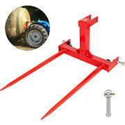 Cat 1 3 Point Attachment W/2 49 Hay Bale Spears 3000 Lb Capacity Tractor