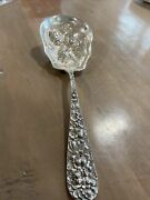 Stieff / Rose Patterns / Repousse / Strawberries / Large Serving Spoon 895g