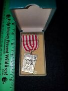 Wwi World War Maryland State Service Medal In Box/boxed/case Pre-ww2